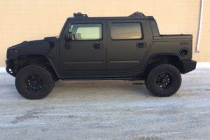 Hummer H2 flat black wrap
