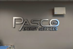Pasco Energy Office Sign